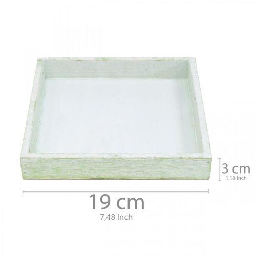 Holz-Untersetzer, Tischdeko, Tablett zum Bepflanzen 19×19cm
