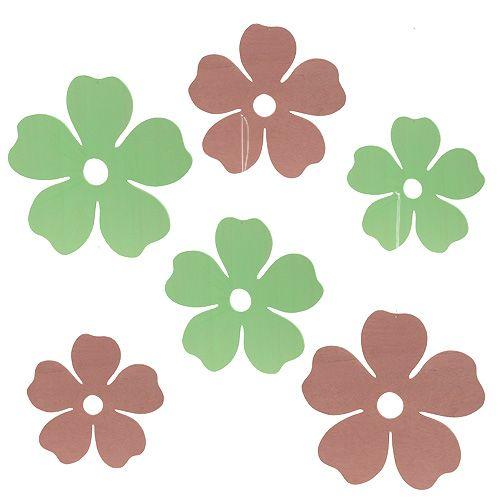 Holzblüten-Set zum Hängen 14cm - 24cm sort. 6St