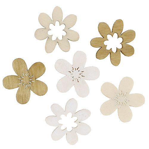 Holzblumen zum Streuen sort. 2cm Natur 144St
