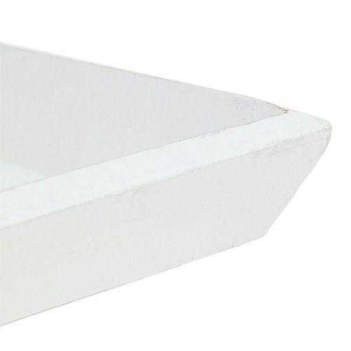 Holzschale 25cm x 25cm in Weiß