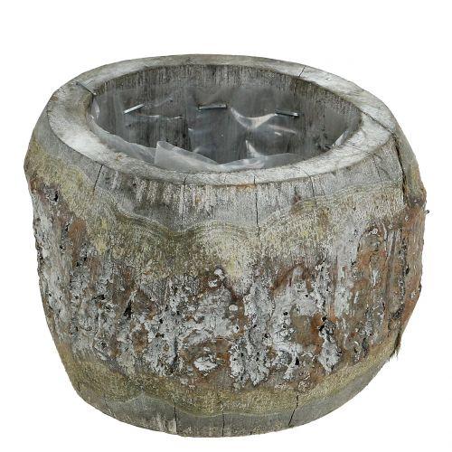 Holztopf zum Bepflanzen Weiß gewaschen Ø14cm