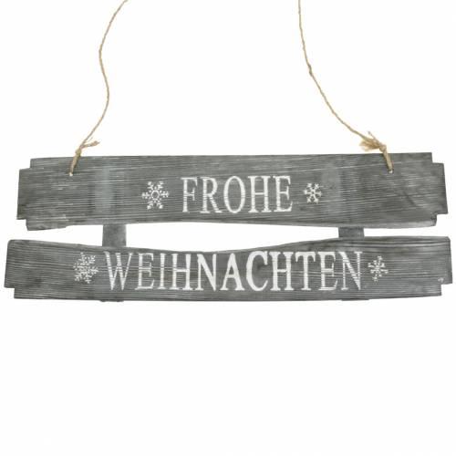 """Weihnachtsdeko Holzschild """"Frohe Weihnachten"""" 58cm x 20cm"""