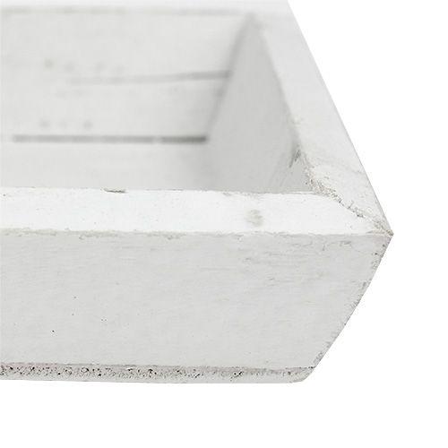 Holztablett Weiß L57,5cm B16cm H3cm 1St