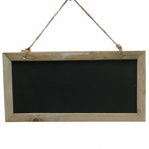 Schiefertafel mit Holzrand zum Hängen Natur 30x15cm 5St