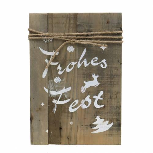 """Weihnachtsdeko Holzschild """"Frohes Fest"""" 29cm"""