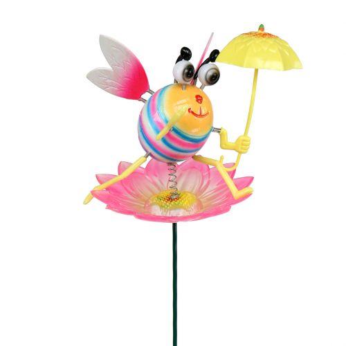 Hummel mit Schirm Gartenstecker 70cm