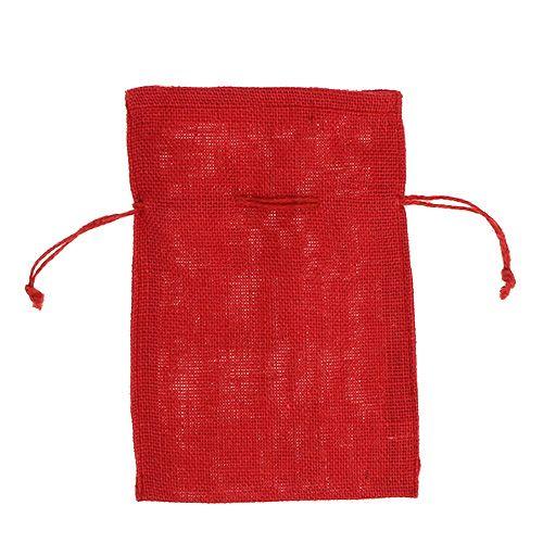 Jute Säcke Rot 16cm x 24cm 10St