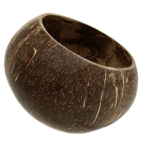 Kokosnuss Schalen poliert Natur 5St