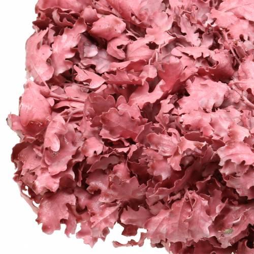 Kranz Eichenlaub Rosa gewachst Ø38cm