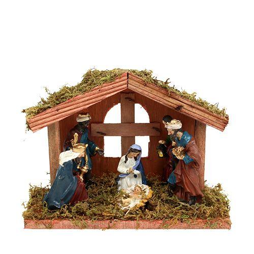 Weihnachten Krippe Bilder.Krippe Weihnachten 20cm X 9cm X 14cm