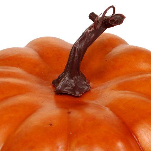 Kürbis künstlich Orange 18cm