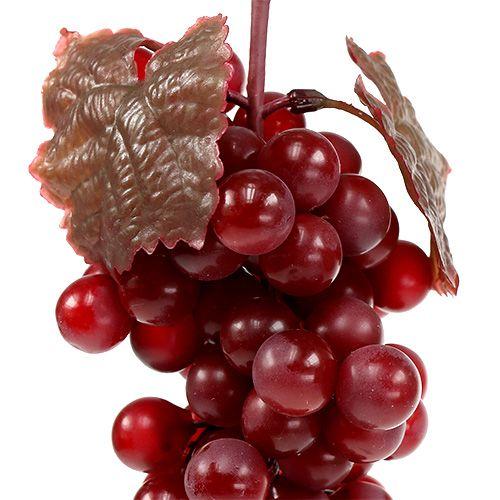 Kunstobst Weintrauben rot 22cm