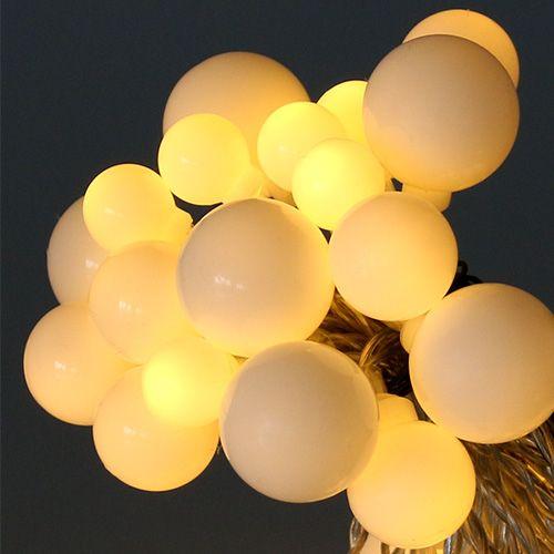 LED Kugellichterkette 40er 3m Warmweiß