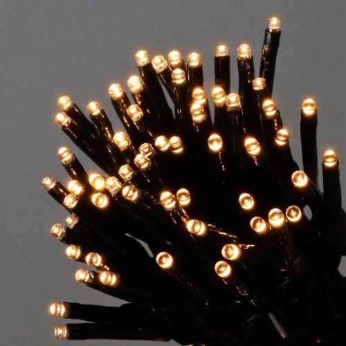 LED Reislichterkette für innen und außen 500er 11m Grün/Warmweiß