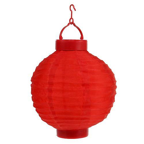 Pilzlampe bestehend aus sieben roten Leucht Pilzen mit LED