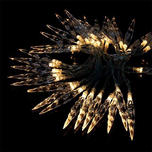 Lichterkette Eiszapfen 40 LEDs Warmweiß 3,9m