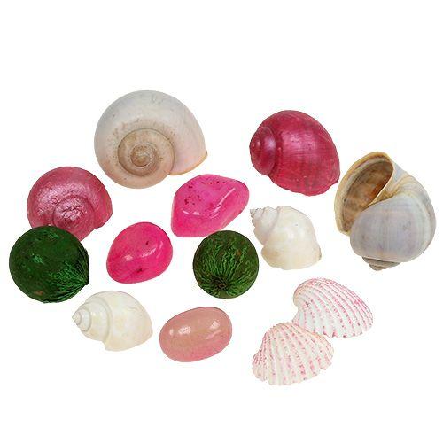 Muschel Mix Weiß-Rosa 350g