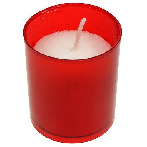 Nachfüllkerze für Grablicht Nachfülleinsatz Grablampen Rot 20St