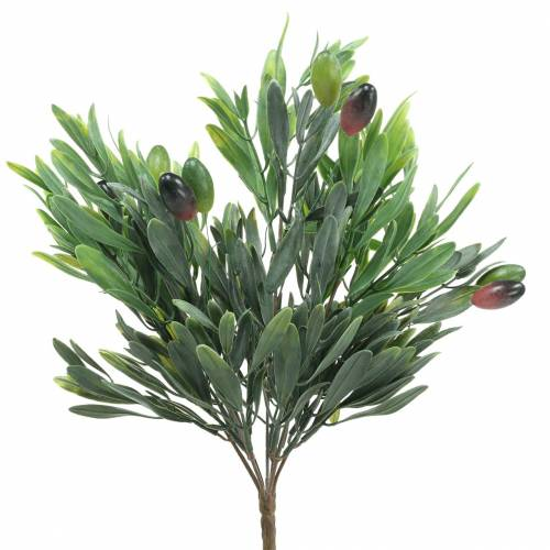 Olivenzweig künstlich Grün 27cm 7 Stränge