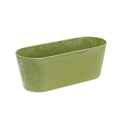 Plastikschale oval Hellgrün 27cm x 11cm H10cm