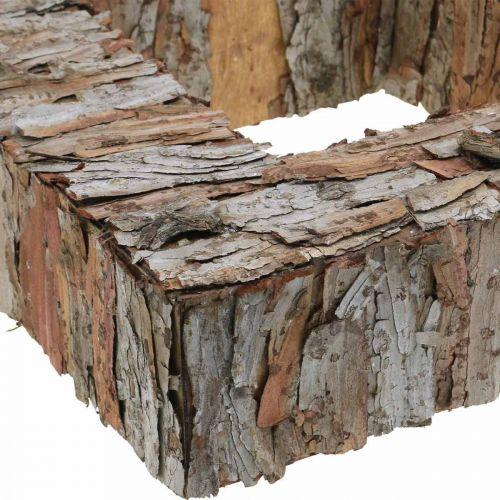 Deko Baumrinde Quadrat offen Pinienrinde Herbstdeko 30×30cm