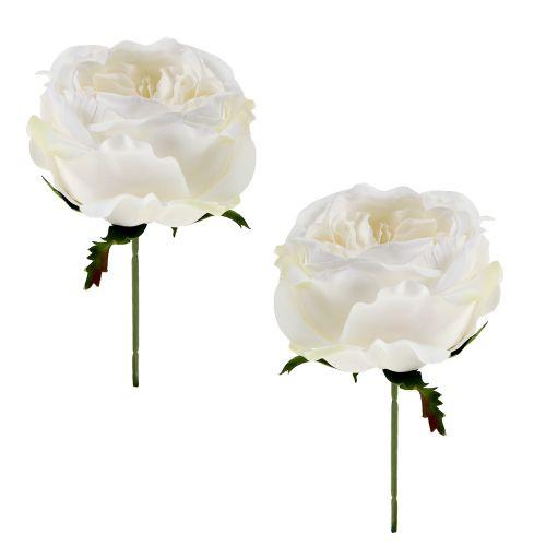 Rosenblüte Weiß 17cm 4St