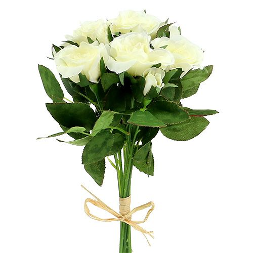 Rosensträuße weiß L26cm 3St