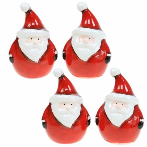 Weihnachtsmann Dekofigur 8,5cm 4St