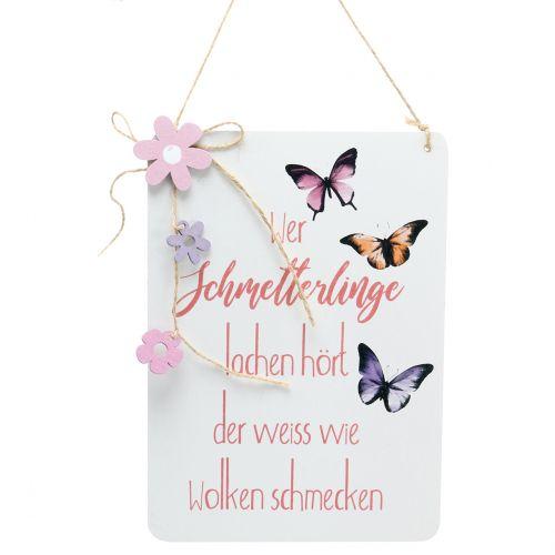 """Deko Schild """"Schmetterling""""  24cm x 17cm 3St"""