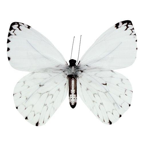 Schmetterling Weiß 20cm am Draht 2St einkaufen in Österreich
