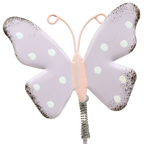 Blumenstecker Schmetterling Pastell 24cm 12St