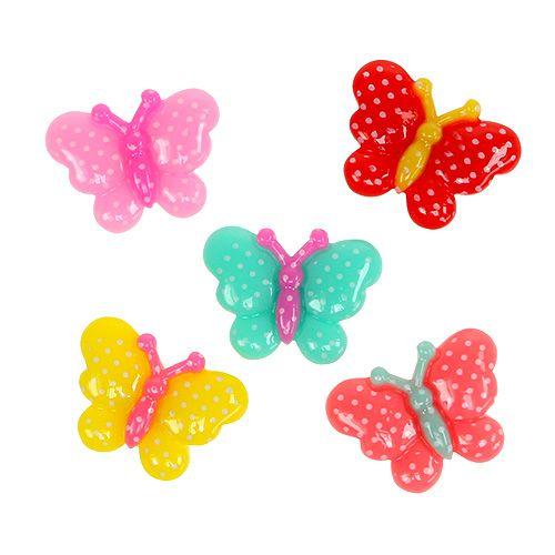 Schmetterlinge Mini 2cm bunt 24St