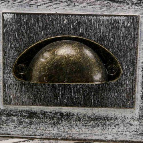 Pflanzgefäß Holzschublade Creme, Braun 36×15/24×12cm 2er-Set