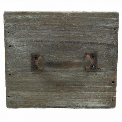 Pflanz-Schublade Shabby Chic Holzdeko Natur 12,5×12,5×11cm