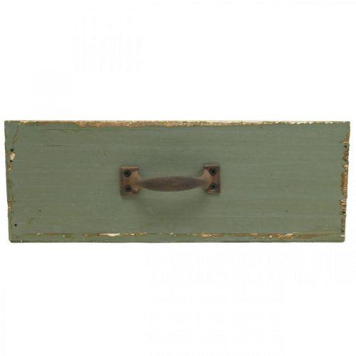 Pflanzgefäß Deko-Schublade Holz Shabby Chic Grün 25x13x9cm