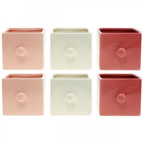 Pflanz-Schublade, Deko-Schubkasten, Keramikgefäß, Übertopf 6St
