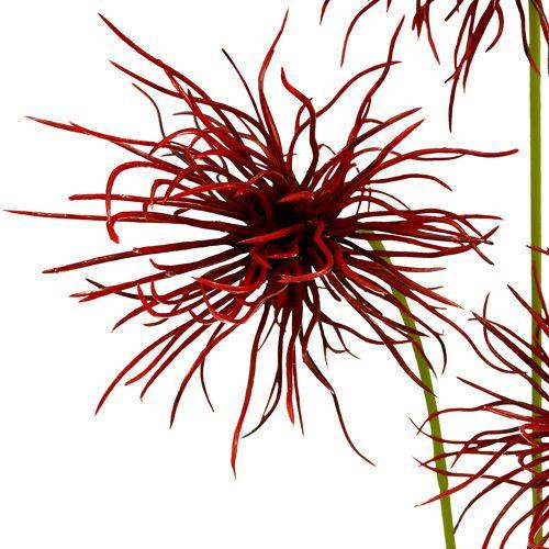 Seidenblumen Xanthium Bordeaux 64cm 4St