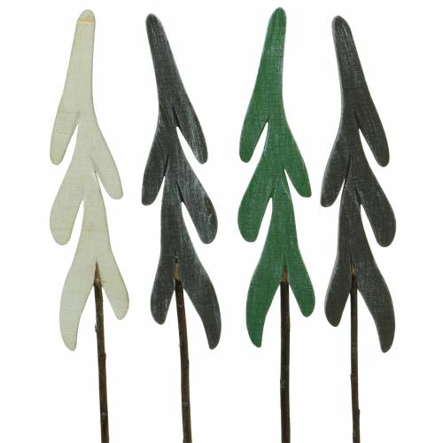Weihnachtsdeko Stecker ELCH für Garten oder Balkon Metall grau weiß gewischt
