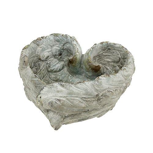Steckschale Herzform 15cm x 13cm H8cm