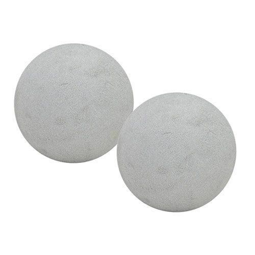 Steckschaum Kugel Steckmasse Ball Grau Ø12cm 6St