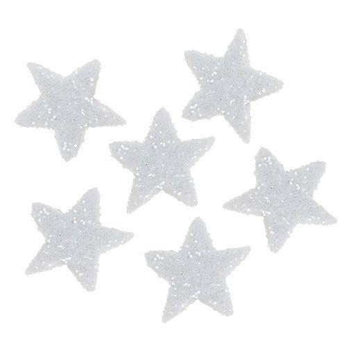 Stern Glitter 1,5cm zum Streuen Weiß 144St