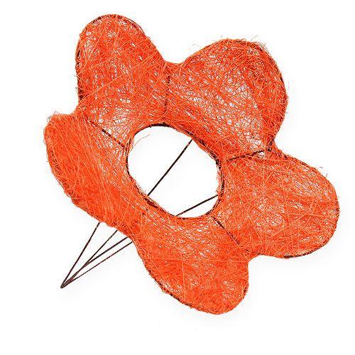 Sisal-Blumenmanschetten Orange Ø25cm 6St