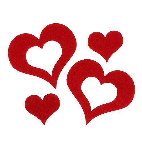10 Stk Holzherzen 9cm rot Herzen aus Holz Dekoherzen Hochzeitsdeko Tischdeko!!