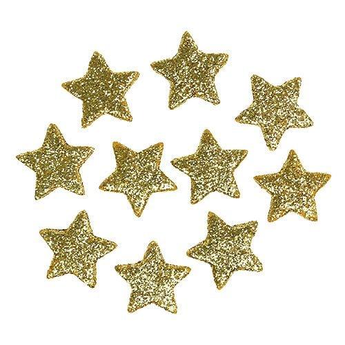 Stern Weihnachten.Streudeko Weihnachten Stern Gold 2 5cm 100st