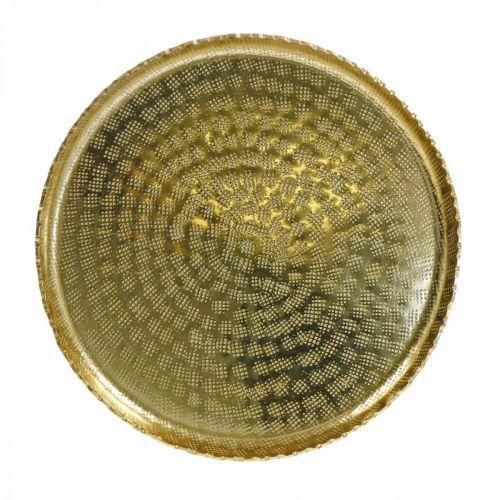Dekotablett, Metallteller orientalisch, Tischdeko Ø25cm