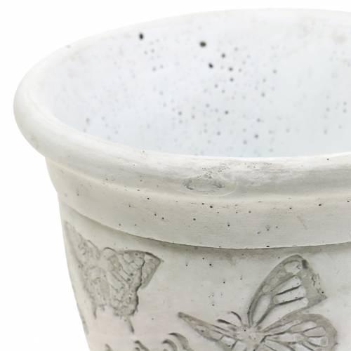Pflanztopf Übertopf Pokal mit Schmetterlingen Ø12,5cm H13cm 2St