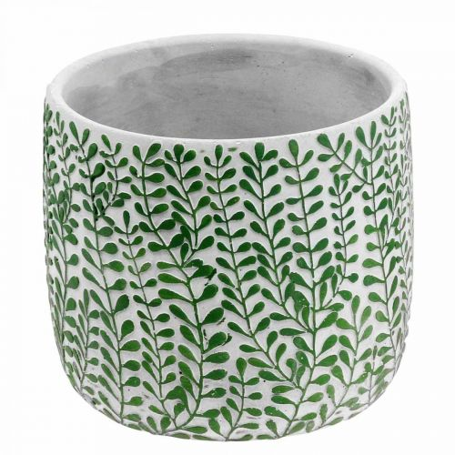 Übertopf Rankendekor, Keramikgefäß, Pflanzkübel Betonoptik Ø20,5cm H17,5cm