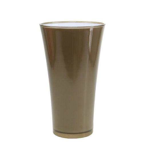"Vase ""Fizzy"" Platingrau Ø20cm H35cm"