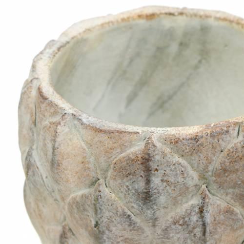 Übertopf Vase Beton mit Blattmotiv Ø14 cm