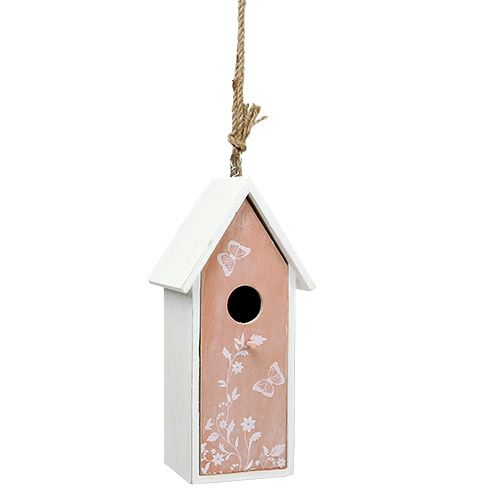 3 Deko Vogelhaus kleines Vogelhäuschen aus Holz zum Aufhängen Natur Frühling